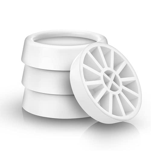 Klangfeiler® 4 Schwingungsdämpfer für Waschmaschinen und Trockner - Dämpfer Waschmaschine vibration gummifüße Gummi Vibrationsdämpfer