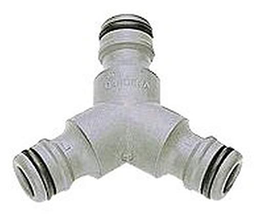Gardena Y-Stück: Zur Schlauchabzweigung, Anschluss im Schlauchverlauf zum Verbinden von 13 mm (1/2 Zoll)-Schläuchen, zur zeitgleichen Verwendung einer Wasserquelle (2934-20)
