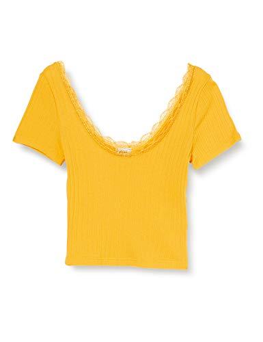 Pimkie Tss20 Trcute Camisetas de Manga Corta para Mujer, Jaune, L