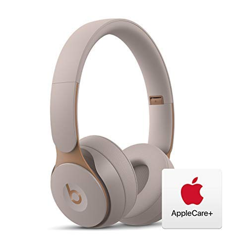 Beats Solo Pro Wireless Noise Cancelling On-Ear Headphones - Apple H1 Chip - Grey with AppleCare+ Bundle