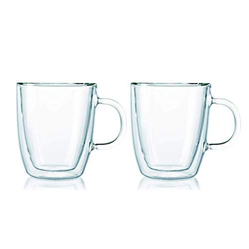 BODUM Bistro Mug, Double Wall, 0.3 l, 10 oz, 2 pcs