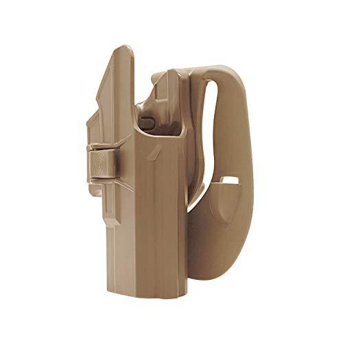 efluky Glock Holster Funda para Pistola Molle Pistolera Airsoft Gun Holster para Glock 19 23 32(Gen1-5), Glock 19X, Glock 45, Paddle 60°Adjustable