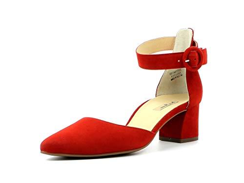 Paul Green Damen Spangenpumps 7273, Frauen Sling-Pumps, Ladies feminin elegant Women's Women Woman Abend Feier Slingback Leder,RED,40 EU / 6.5 UK