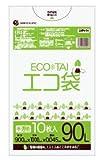 ゴミ袋 90L 900x1000x0.045厚 半透明 10枚x30冊 箱 LLDPE素材