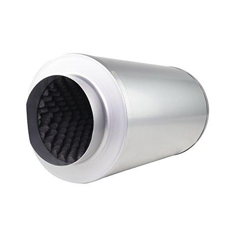 LABT Rohrschalldämpfer mit Akustikschaum Lüftung Zu und Abluft Durchmesser 150 mm Dämmstärke 50 mm Grow