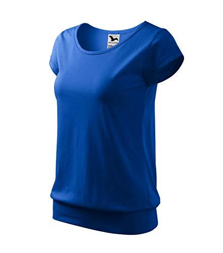 T-Shirt Shirt für Damen 100% Baumwolle (L, königsblau)