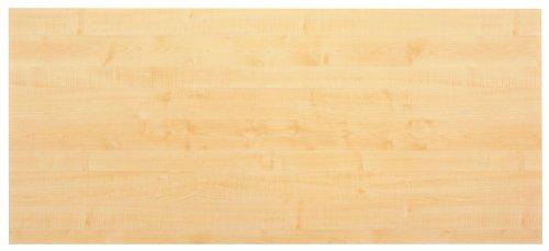 Tischplatte 200 x 100 x 2,5 cm, Dekor Ahorn, melaminharzbeschichtet