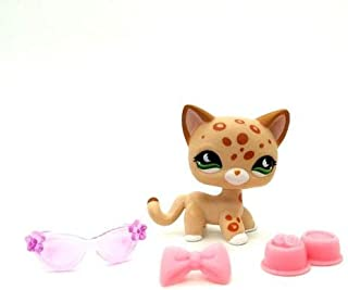 Littlest Pet Shop Short Hair Cat Kitty Leopard LPS #852 3/Accessories