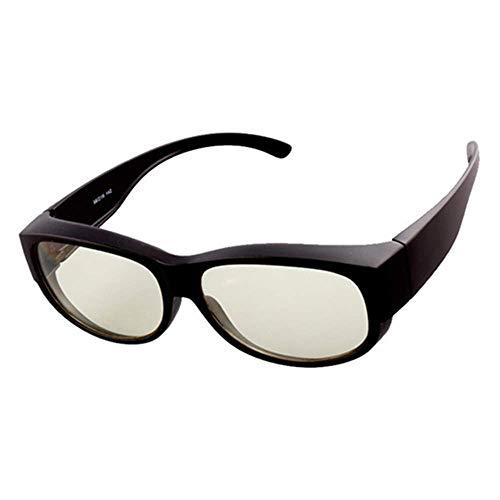 WOXING Aire Libre Deportes Ciclismo Conducir Pesca Gafas,Moda HD Polarizadas Gafas,para Los Hombres Mujere Gafas De Sol,Anti-Azul Protección UV Gafas-Negro Mate 14.5x4.2cm(6x2inch)