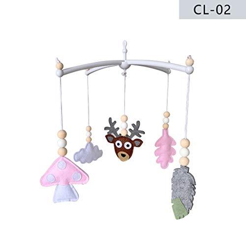 Xzmnxzzme - Campana de viento para cama de bebé, juguetes para niños, decoración de habitación de los niños - [hecho a mano], Fieltro., 1, 34x36cm