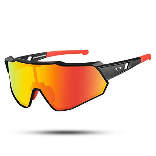 AALK Gafas de ciclismo polarizadas anti-UV400 TR90 MTB gafas de seguridad hombres mujeres deporte gafas de sol para béisbol correr pesca conducción golf