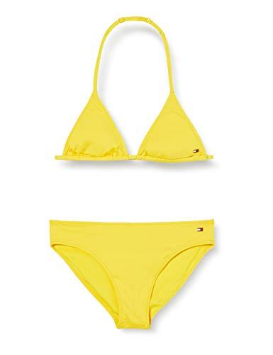 Tommy Hilfiger Mädchen Triangle Bikini-Set, Gelb (Bold Yellow), 4-5 Jahre (Herstellergröße:)