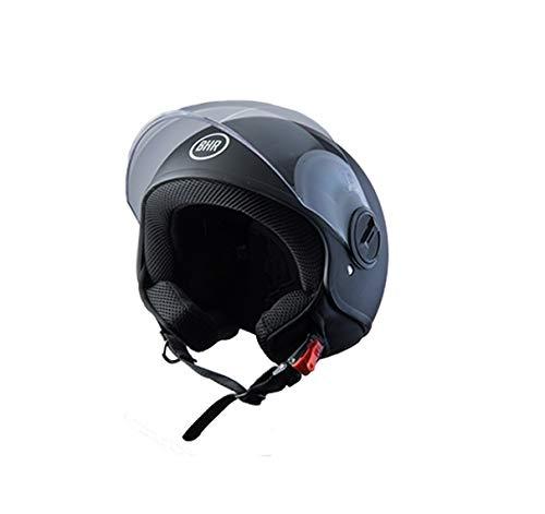 BHR Helmets 808First - Casco Moto Unisex - Adulto, nero, M