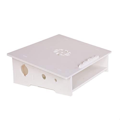 JXILY Soporte para Laptop Producción De WPC Portátil Riser Ventilado Sistema De Gestión De Cables Cojín De Enfriamiento Ahorro De Espacio Ligero