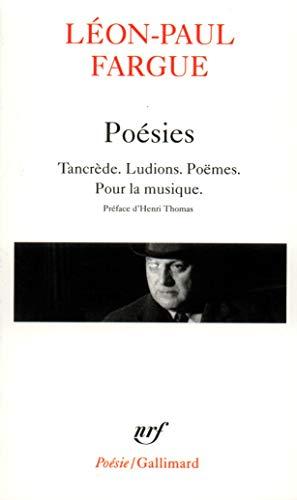 Poesies Tancrede Ludions Poemes Pour La Musique
