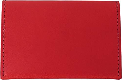 名刺入れ ネームカードケース イタリアンレザー カラフル スリムタイプ 薄い 男女兼用 ギフト BT 本革 レッド INL-4204 スリップオン