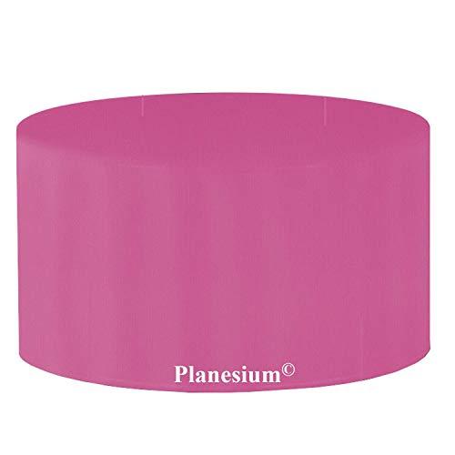 Premium étui Gartenstuhl-Kissen Housse de Protection de Table de Jardin Ronde Ø 120 cm x H 70 cm Rose/Rose