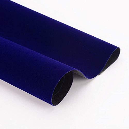 Taogift Película de Vinilo autoadhesiva Velvet Flock Muebles Pegatina Forro para exhibiciones de Joyas Estante Cajón Cómoda Armarios Forro Artesanía Decoración (Azul, 45CMx2,5M)