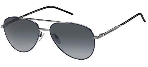 Tommy Hilfiger Gafas de Sol TH 1788/F/S Ruthenium Blue/Grey Shaded 60/16/145 hombre