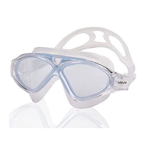JYDZSW Gafas de natación Gafas de natación Versión Clara Gafas de Buceo Profesional Anti-Niebla Sport Eyewear Super Big Big Adult A Prueba de Agua Gafas de natación (Color : Sky Blue)