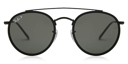 Ray-Ban a doble vuelta PUENTE Negro Verde clásico del G-15 51 gafas de sol