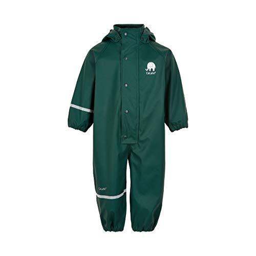 Celavi Baby-Jungen Regenanzug einteilig in Vier Farben Regenjacke, Grün (Ponderosa Pine 923), (Herstellergröße:80)