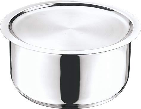 Vinod Stainless Steel 304 Grade Tope with Lid - 14 cm, 1.1 Ltr (Induction Friendly)