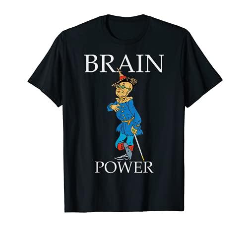 Tierra vintage de Oz espantapájaros Cerebro Poder Mago de OZ Camiseta
