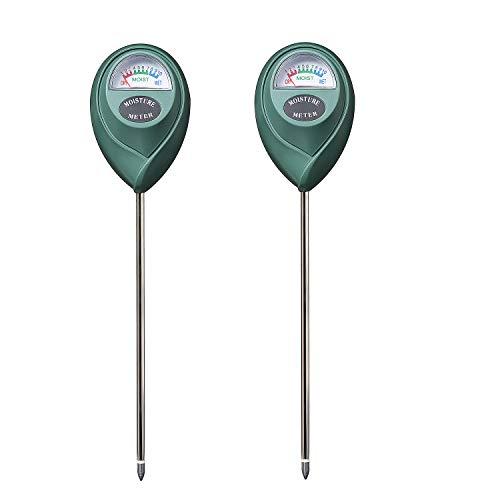 XLUX Soil Moisture Sensor Meter Water Monitor, Hygrometer for Gardening, Farming,Plants, No Batteries Required, 2 Pack