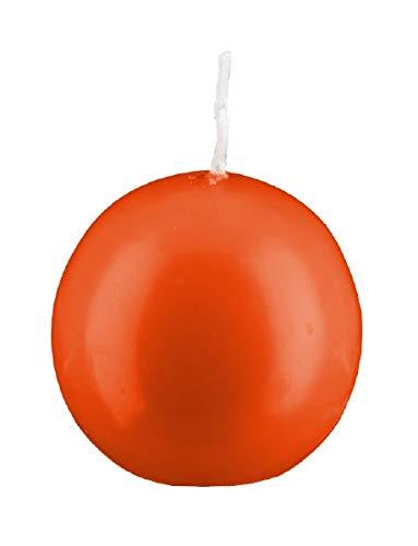 Kugelkerzen Flame Orange Rot, Ø 5 cm, 16 Stück, deutsche Markenkerzen in RAL Kerzen Güte Qualität