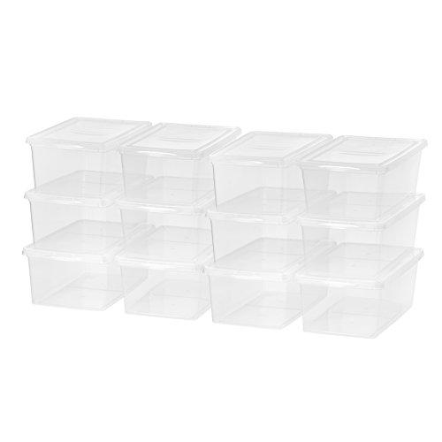 IRIS USA, Inc. CNL-17 17 Quart Clear Storage Box, 12 Pack