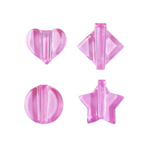 Minkissy 4 Stücke Nail Art Form Stern Herz Runde Quadrat Prägeform Kurve Gestaltungswerkzeuge Biegen Schnitzen Gepresste Form für Nail Art Dekore