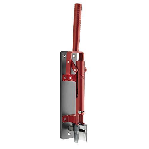 Sacacorchos de pared 110 LUX Rojo cereza con soporte gris oscuro