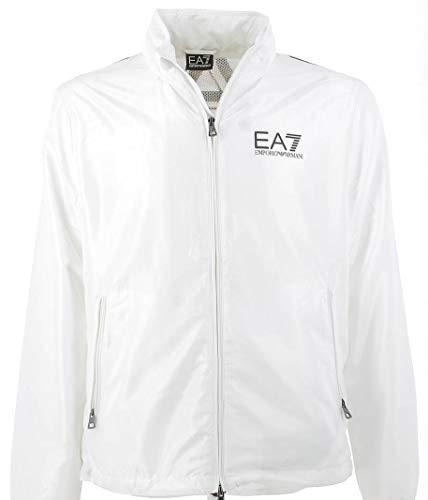 Emporio Armani EA7 lichtgewicht jas met groot eenkleurig logo