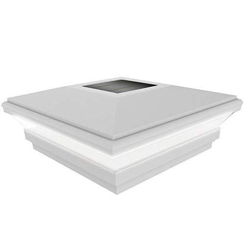 "Barrette Outdoor Living 73013118 5""x5"" Contemporary Solar Light, White"