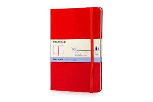 Moleskine Kreativ Notizbücher, Skizzenbuch, Large/A5, 165G Papier, Hard Cover, rot