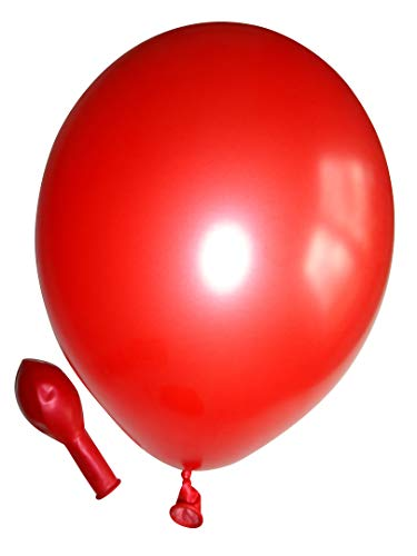 Belbal 50 Luftballons metallic rot Premiumqualität Ø ca. 27cm B85 (Standardgröße)