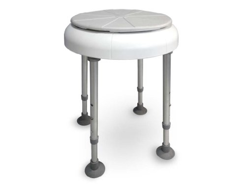 Drive Medical, drehbare Sitzfläche Duschhocker Delphi, weiß