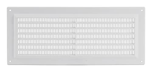 300x130mm Lüftungsgitter Insektenschutz Weiß Gitter Lüftung aus ABS Kunststoff 30x13cm