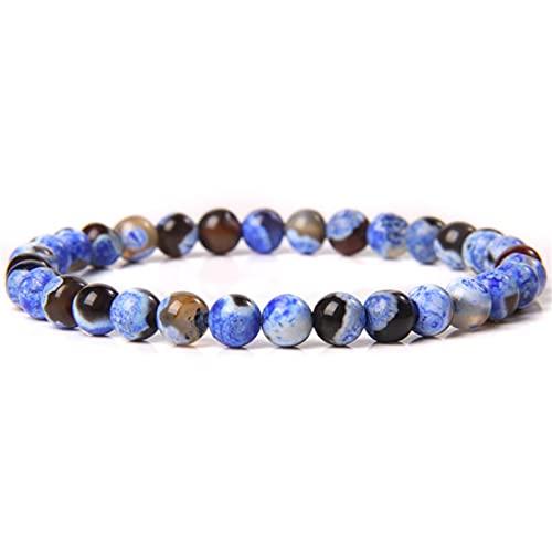 Natural Stone Beads Bracelets 6 mm Labradorite Tiger Eye Stone Charm Bracelets For Women Jewelry Men Luxury