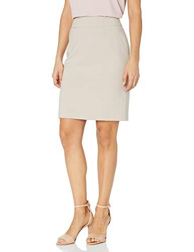 Calvin Klein Women's Lux Straight Skirt, Khaki, 4 Petite