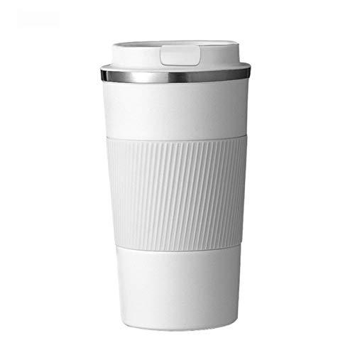 380/510 ml Botella de Agua aislada Taza de café Taza Termo de café de Acero Inoxidable Doble con Estuche Antideslizante Frasco de vacío para automóvil Viaje