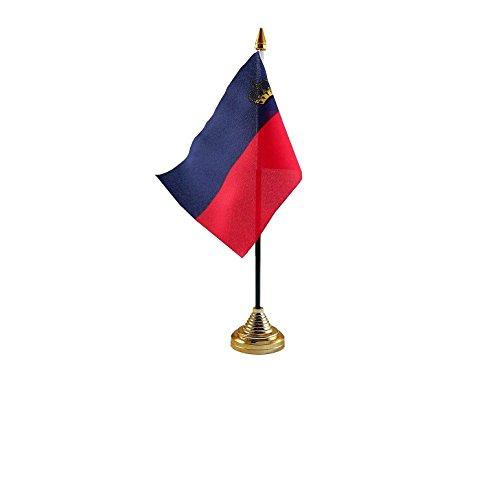 Liechtenstein Handtafel of Waving Vlag Land - Geen Basis