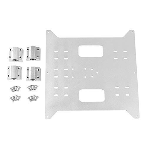 Y Carriage Replacement Aluminum Plate for Maker Select, Wanhao Duplicatior and I3 Mega 3D Printer