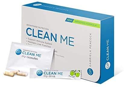 Gabriela Peacock Nutrition Clean Me | 7-Tage-Kit | Unterstützt und stärkt das Immunsystem | Leberreinigungsplan | THC-Entgiftungskit | Körperreinigung für Alkohol und andere Oxidantien