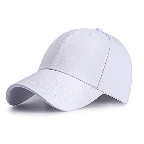 Gorra de Béisbol Simple Snapbacks Deportes Casual Sombrero de Béisbol Visera Sombrero de Protección Solar Gorras de Golf Casual Deportivo Algodón Peso Ligero Unisex Ajustable Sombreros
