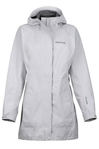 Marmot Damen Regenmantel, Hardshell Regenjacke, Wasserdicht, Winddicht, Atmungsaktiv Wm's Essential Jacket, Sleet, L, 45480