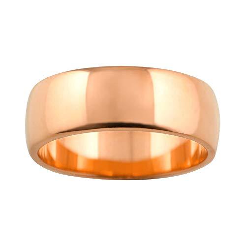 [ジュエリーアイ] 甲丸 指輪 7ミリ幅 リング メンズ シンプル 結婚指輪 マリッジリング ブライダル 単品 日本製 ピンクゴールドK18 K18PG 22.5号