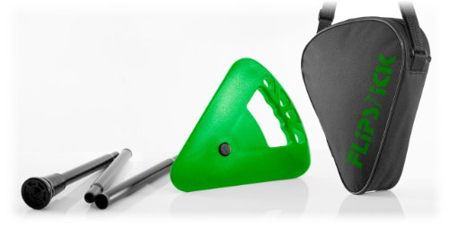 Bastón plegable de Flipstick, color verde neón
