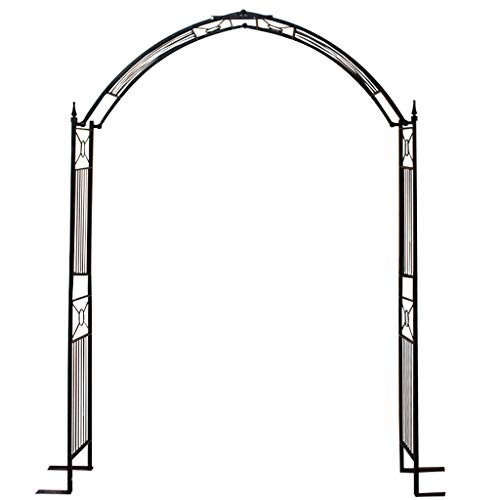 XLOO Classical French Style Garden Arch with,adjustable High Wide Metal Steel Frame Stand Trellis Climbing plants,Foldable, With 4 large right angles,Bridal Party Decoration.